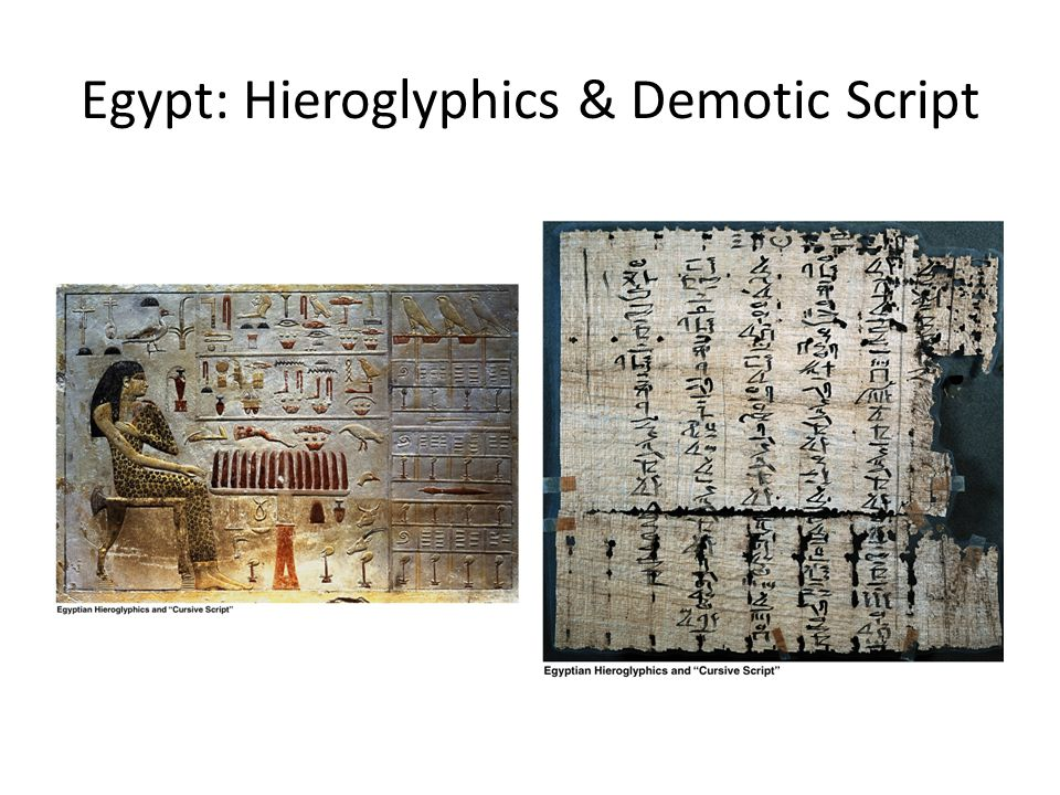 Egypt: Hieroglyphics & Demotic Script