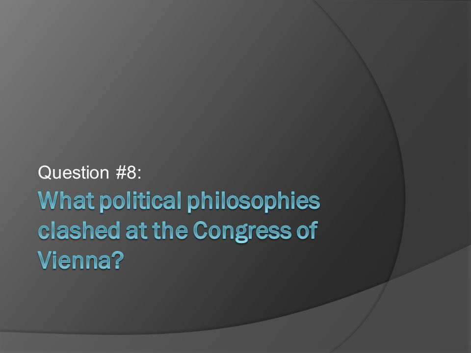 Question #8: