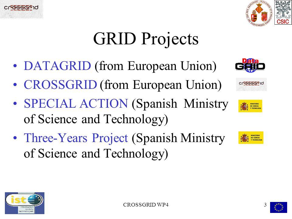 CROSSGRID WP414 GRID test FARM Farm 2 ( EDG v1.1.2 ) 5 Intel processor:  Pentium MMX 150MHz, 64 MB of RAM and 2 GB HD.