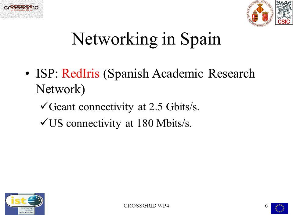 CROSSGRID WP47 Valencia Networking Gigabit Ethernet Backbone in local area network.
