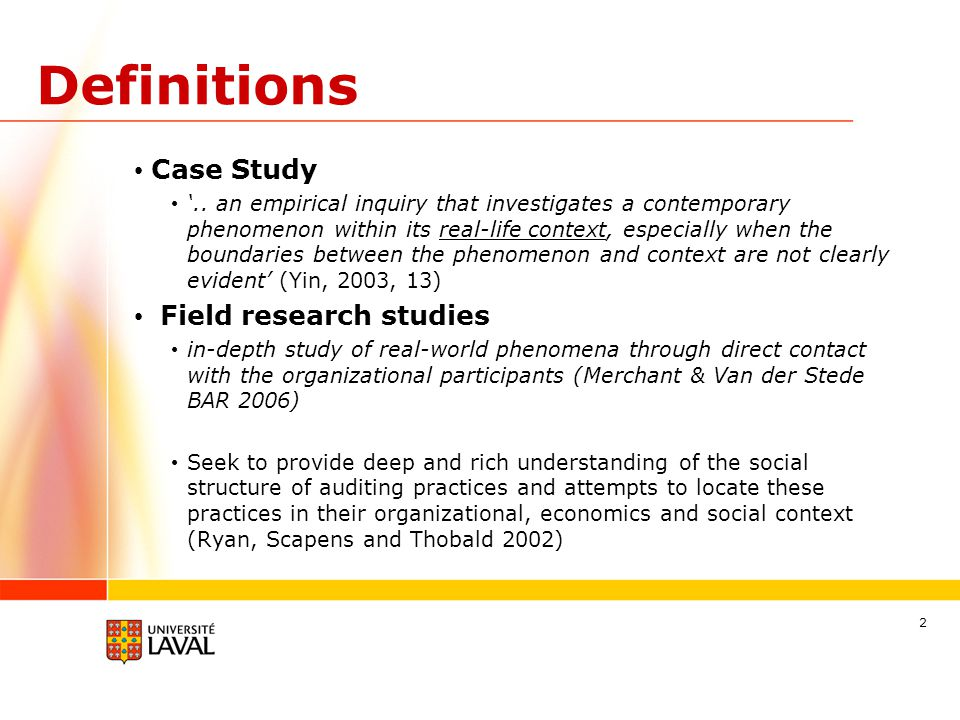 Definitions Case Study '..
