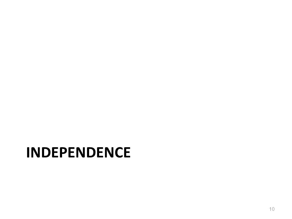 INDEPENDENCE 10