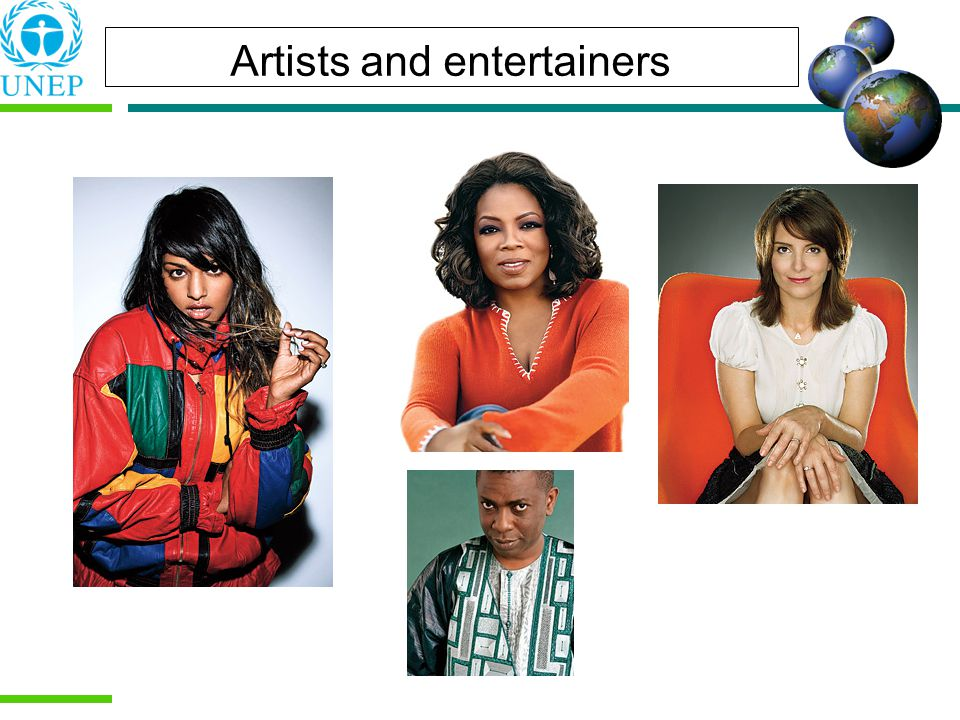 Artists and entertainers