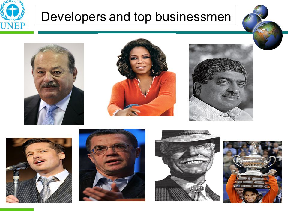 Developers and top businessmen