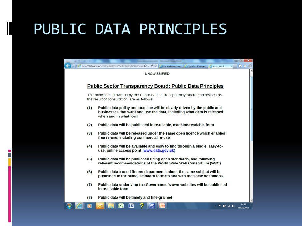 PUBLIC DATA PRINCIPLES