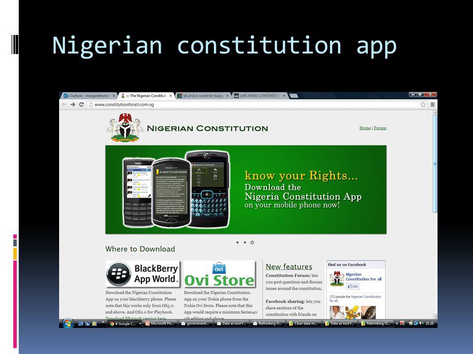 Nigerian constitution app