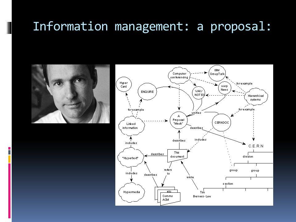 Information management: a proposal: