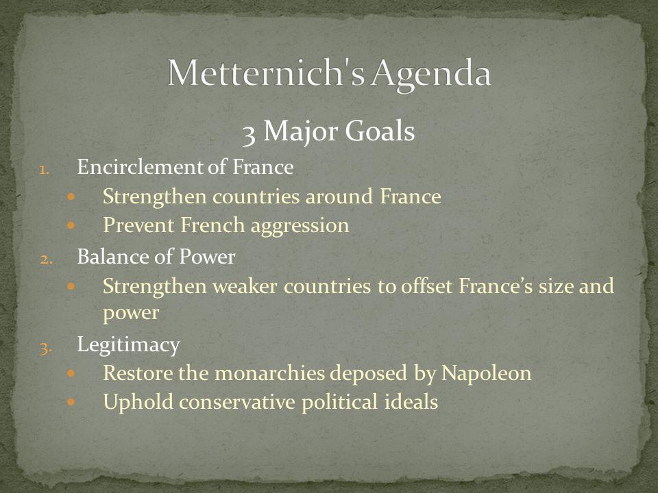 3 Major Goals 1.