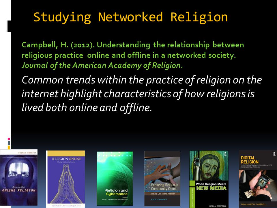 Studying Networked Religion Campbell, H. (2012).