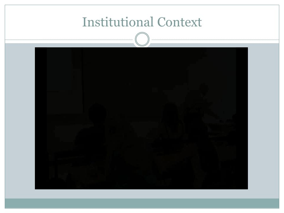 Institutional Context
