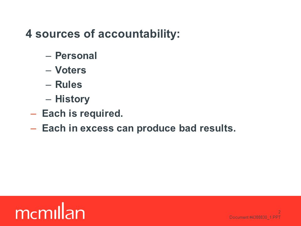 3 Document #4388830_1.PPT Does accountability matter.