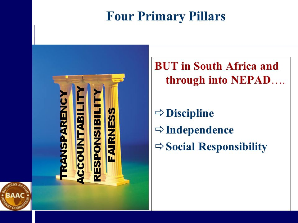 BUT in South Africa and through into NEPAD….