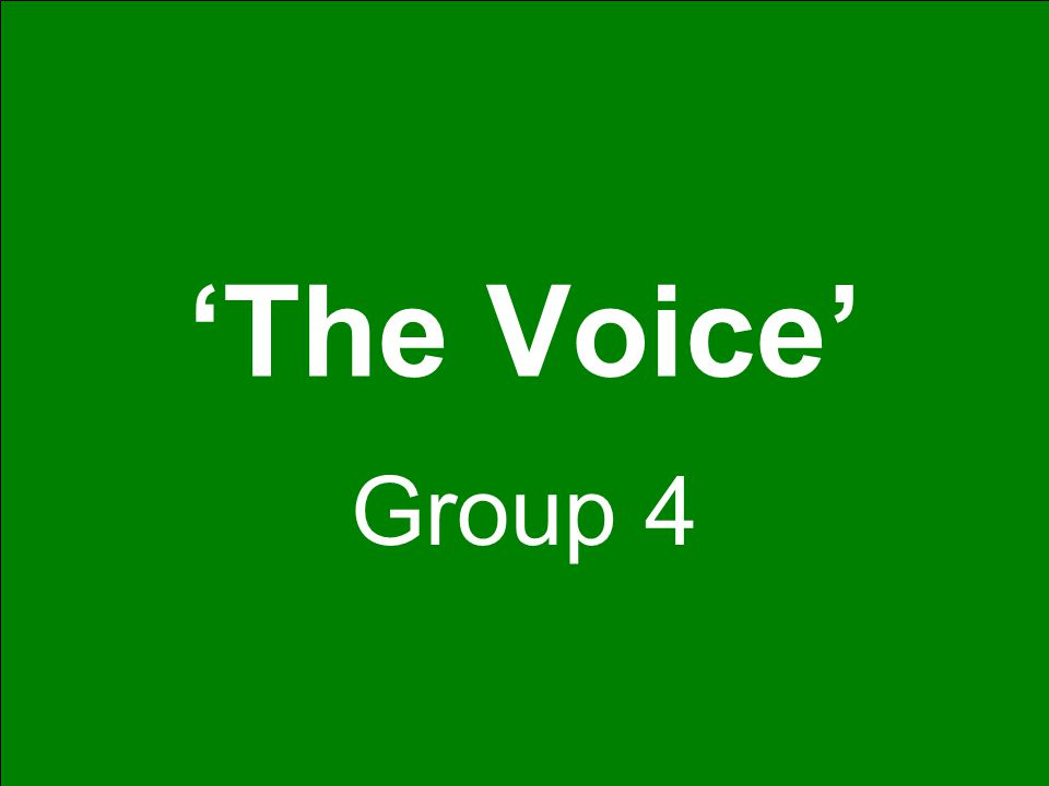 'The Voice' Group 4