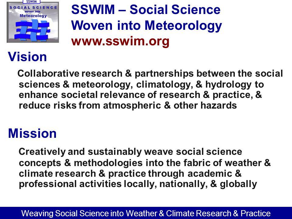 SSWIM's four main goals 1.