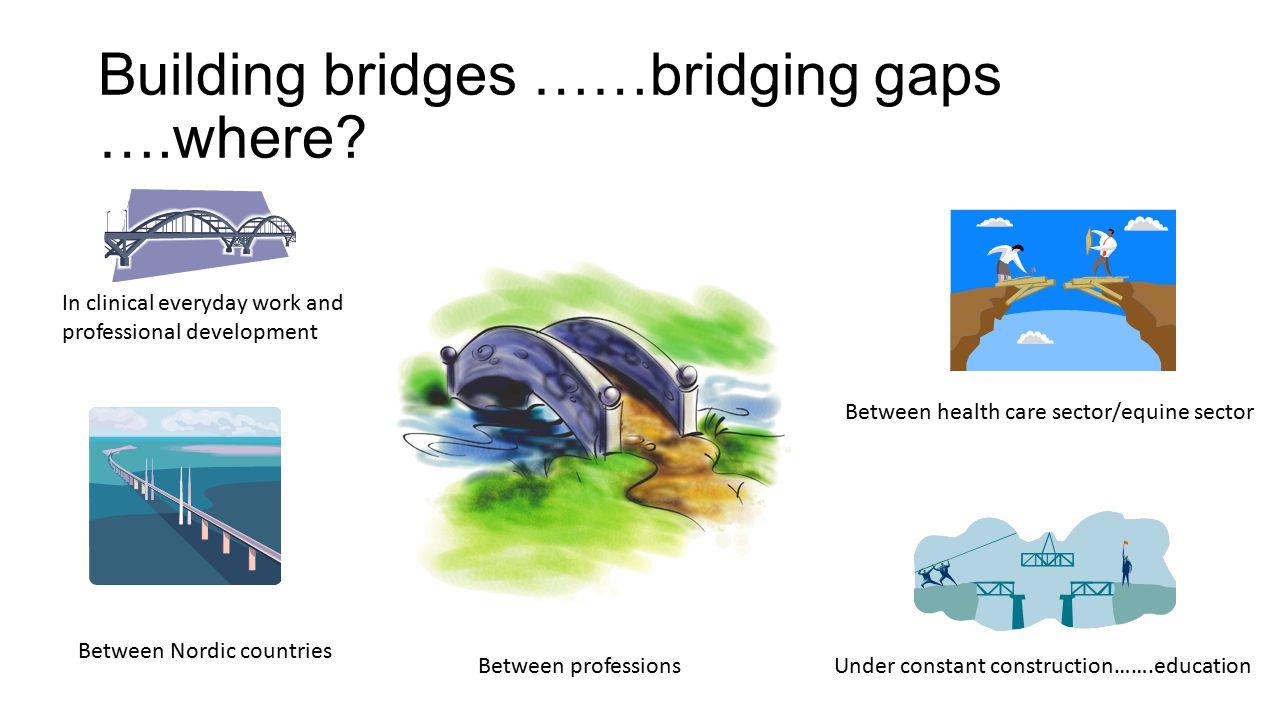 Building bridges ……bridging gaps ….where.