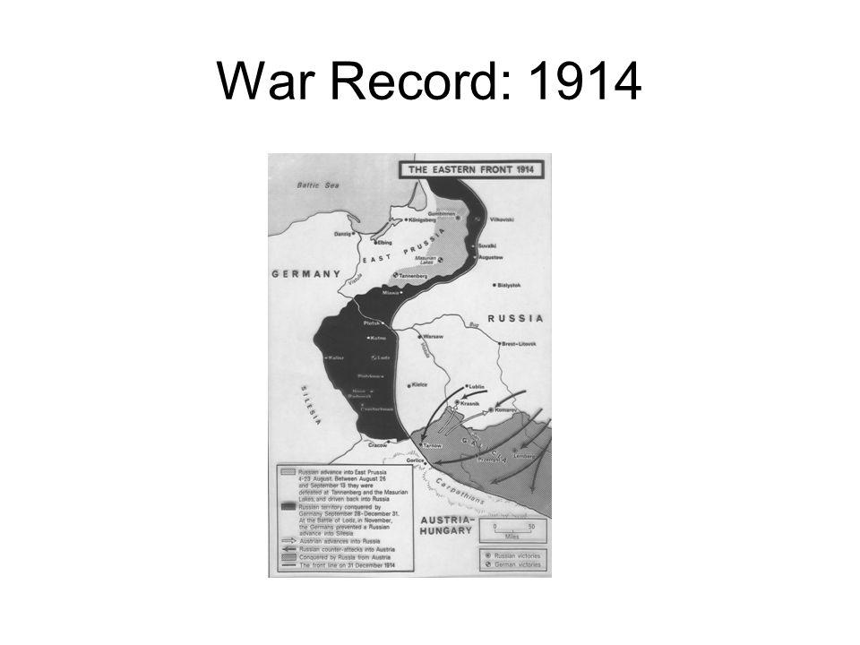 War Record: 1914
