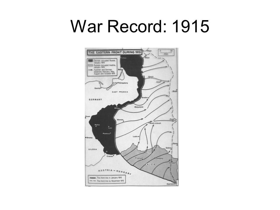 War Record: 1915