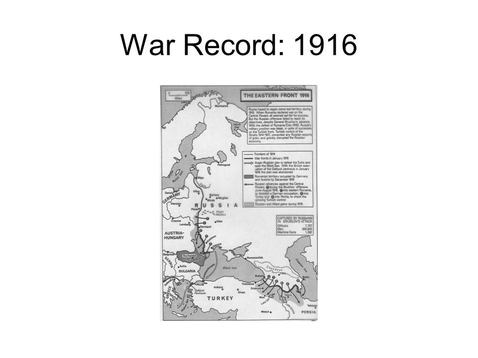 War Record: 1916