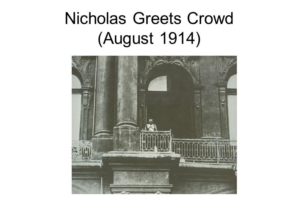 Nicholas Greets Crowd (August 1914)