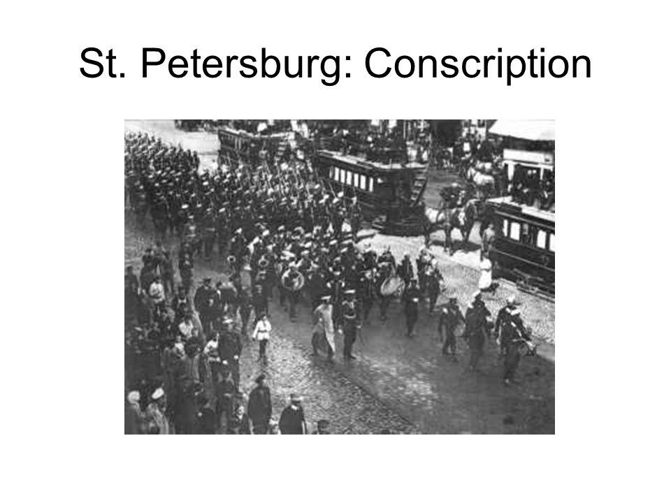 St. Petersburg: Conscription