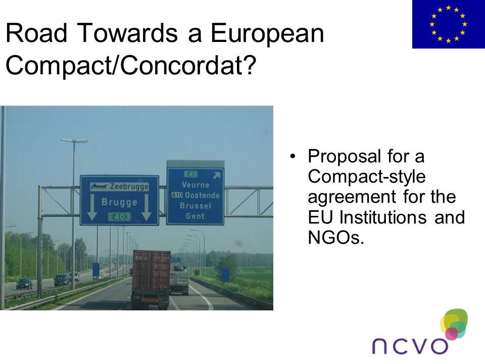 Road Towards a European Compact/Concordat.