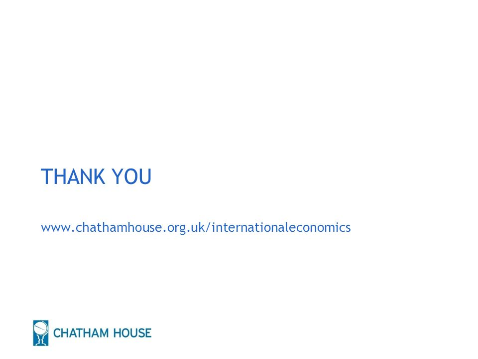 12 THANK YOU www.chathamhouse.org.uk/internationaleconomics