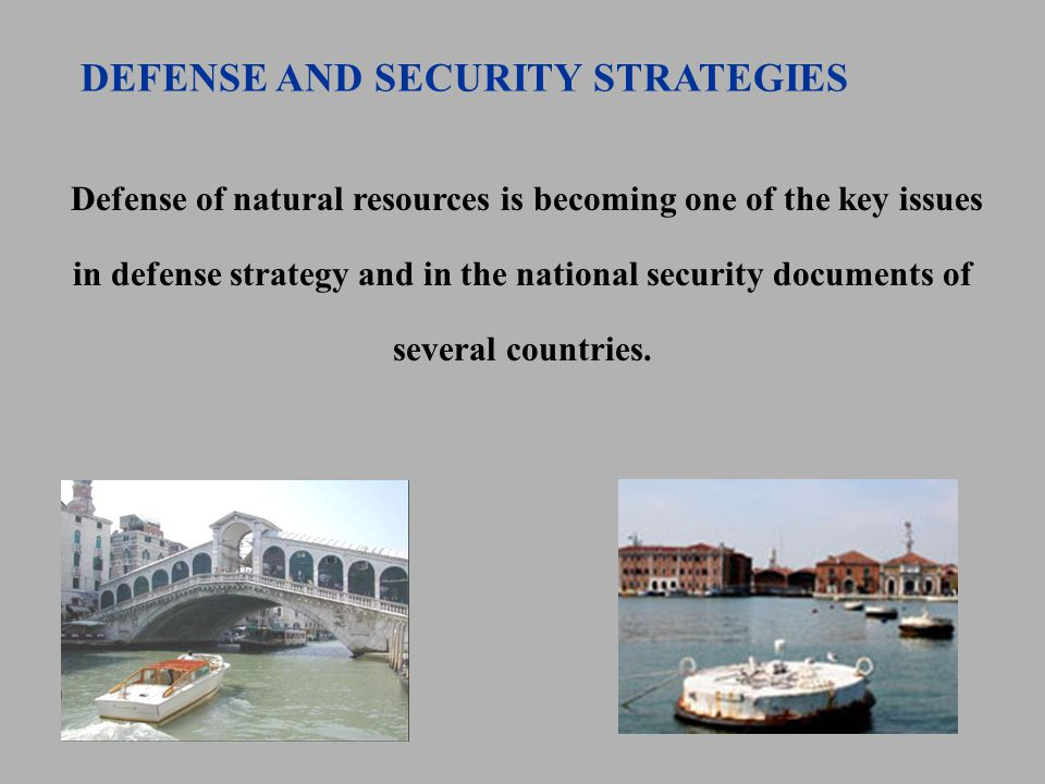 Defense of natural resources is becoming one of the key issues in defense strategy and in the national security documents of several countries.