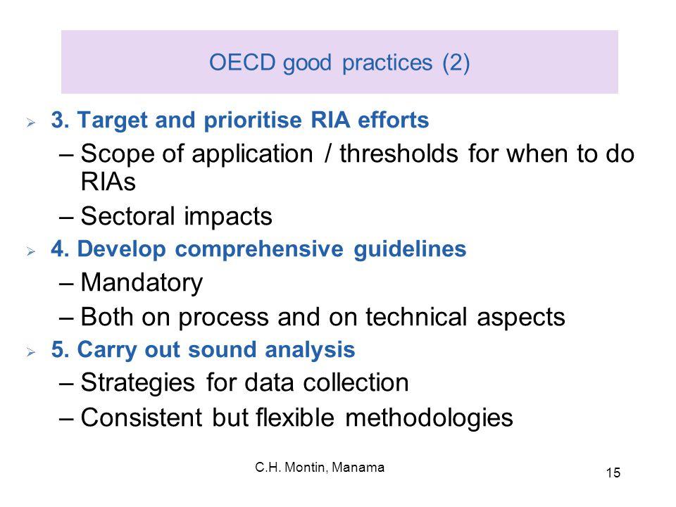 C.H. Montin, Manama 15 OECD good practices (2)  3.