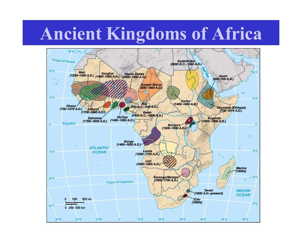 Empires and Kingdoms Pre-1000 AD: Discrete Empires –China, African kingdoms, Latin American (Pre-Colombian) 1000 AD  Kingdoms – France, Germanic Empire, Principality of Poland, etc.