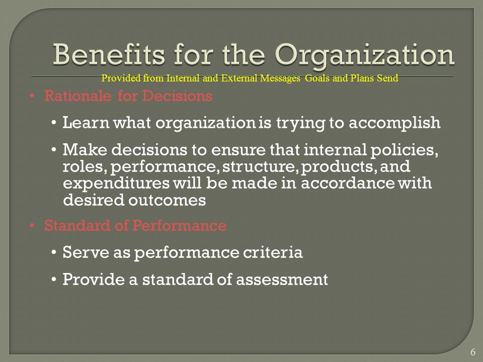  Have a strong mission statement and vision  Set stretch goals for excellence  Establish a culture that encourages learning  Embrace event-driven planning  Utilize temporary task forces  Planning still starts and stops at the top 37 Planning comes alive when employees are involved in setting goals and determining the means to reach them