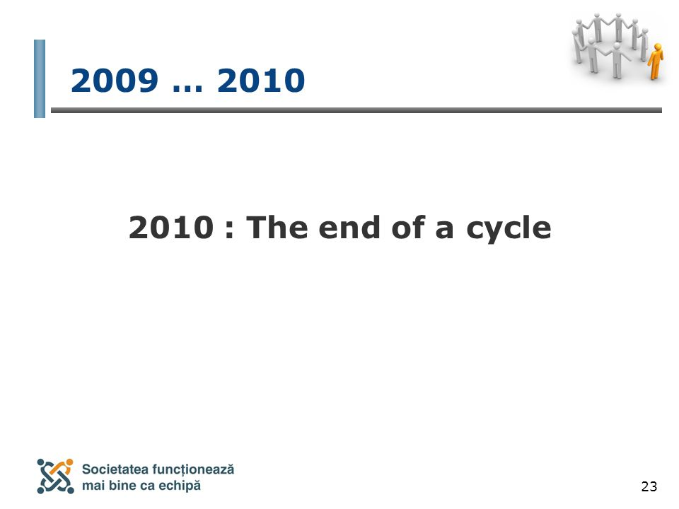 23 2009 … 2010 2010 : The end of a cycle