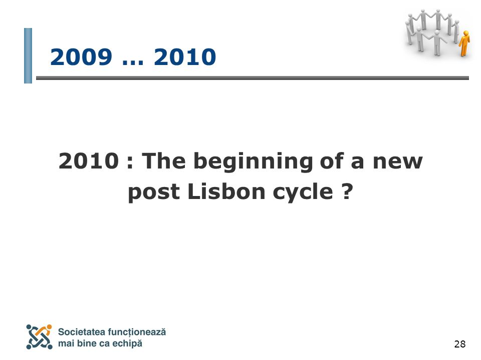 28 2009 … 2010 2010 : The beginning of a new post Lisbon cycle