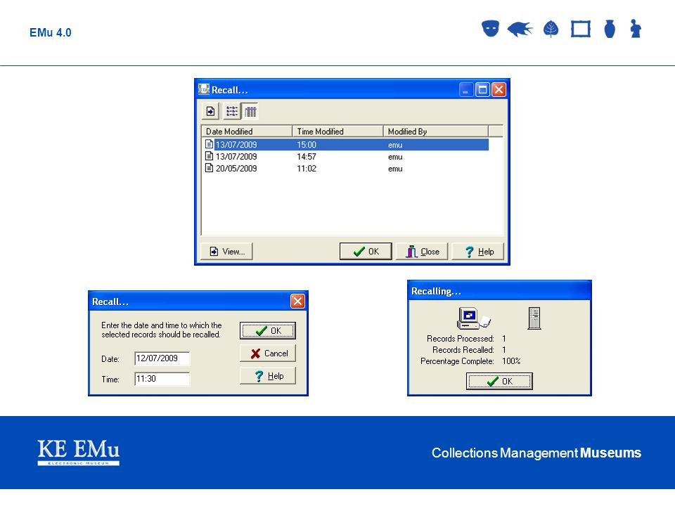 Collections Management Museums EMu 4.0