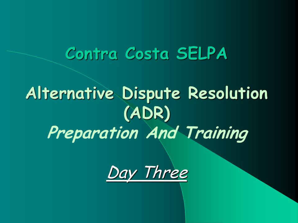 32 Intake And Case Development Show Concern Show The Process Is Simple And Effective Provide Information About ADR Options Help Participants Choose A Strategy Option Respond Quickly Facilitate Logistics For Strategy Implementation Collects Data Throughout Process Evaluates Process