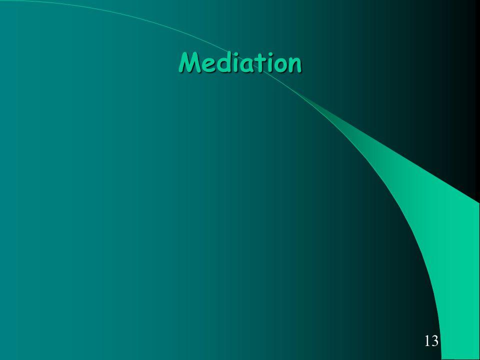 13 Mediation