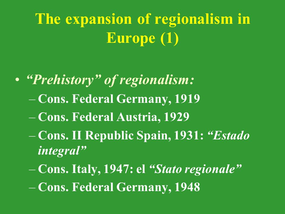 The regional question in the works of the European Convention Reports of the Working Groups: –W.G.