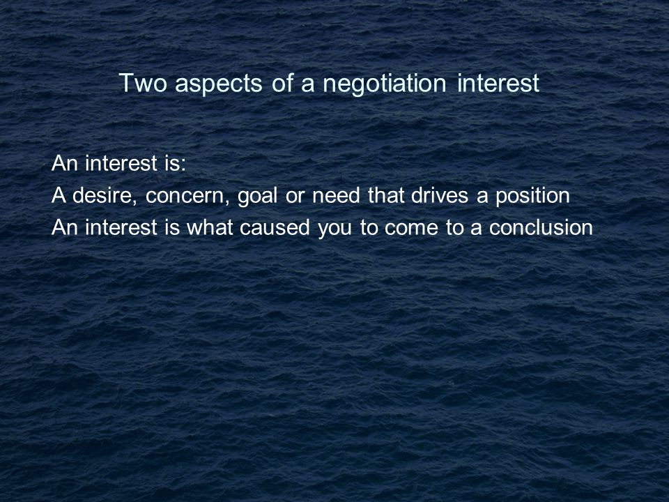 Six mistakes in negotiation Neglecting the other side's interests Letting price bulldoze other interests Searching too hard for common ground Letting positions drive out interests Neglecting BATNAs Not recognising your own partiality Source: James Sibenius Source: Butz & Goodstein Source: Butz & Goodstein