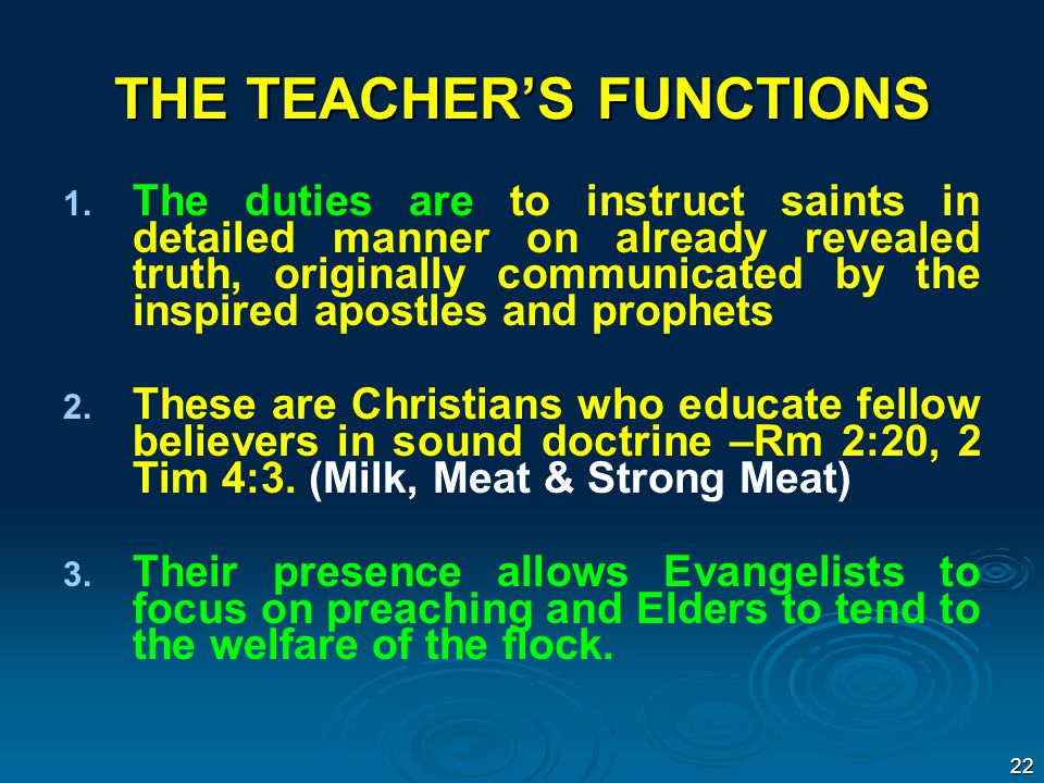THE TEACHER'S FUNCTIONS 1. 1.
