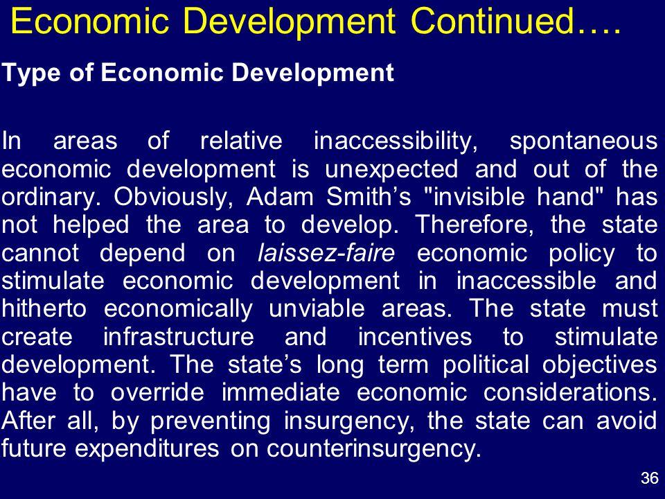 36 Economic Development Continued….
