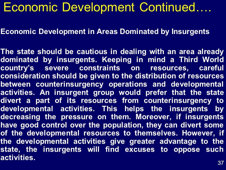 37 Economic Development Continued….