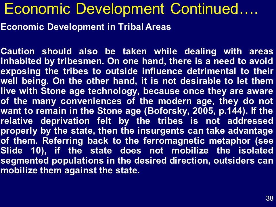 38 Economic Development Continued….