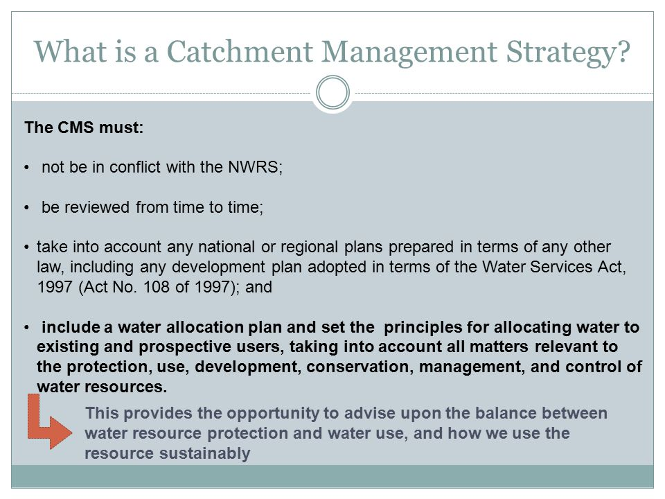 What is a Catchment Management Strategy.