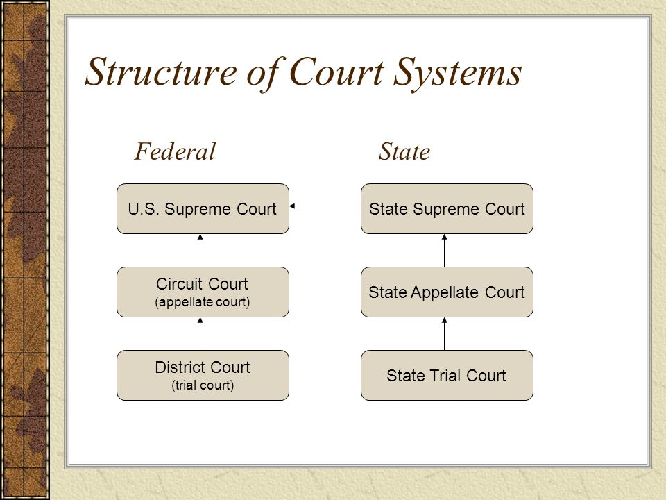 Structure of Court Systems U.S.