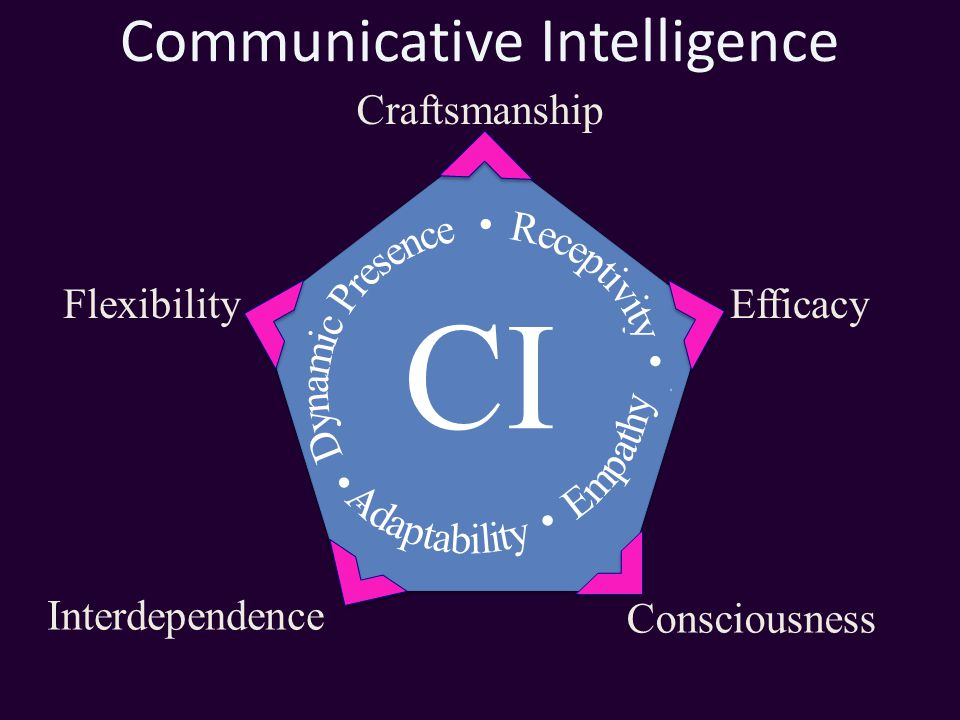 Communicative Intelligence Craftsmanship Efficacy Interdependence Consciousness Flexibility CI