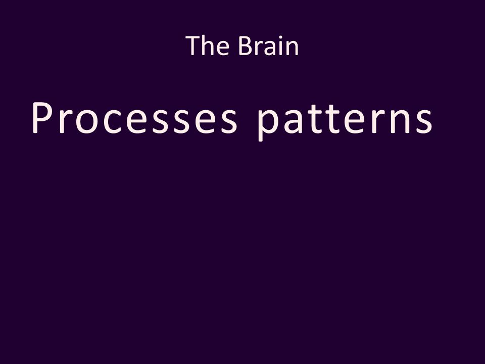 The Brain Processes patterns
