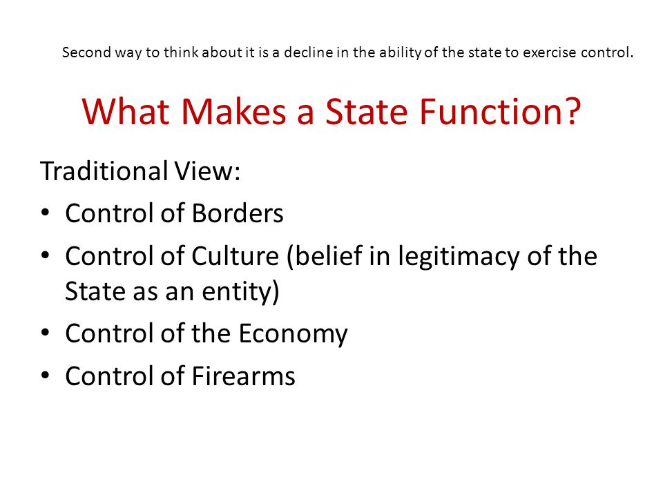 What Makes a State Function.
