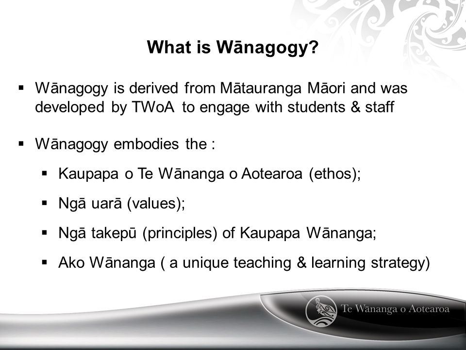 What is Wānagogy.