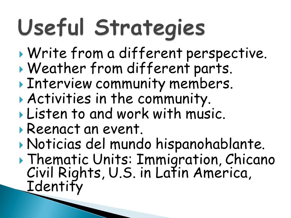 Objective: Create an opportunity for Spanish- dominant English-language learners and Spanish learners to interact on an even playing field. Suggestion