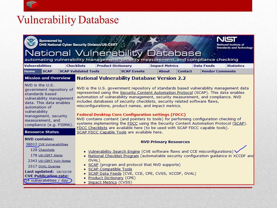 Vulnerability Database 15