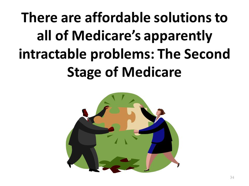 There are affordable solutions to all of Medicare's apparently intractable problems: The Second Stage of Medicare 34